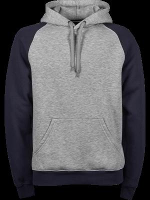 Herre hoodie 2 tonet Navy/grå model