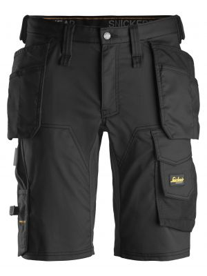 Sorte AllroundWork, stretch shorts med hylsterlommer