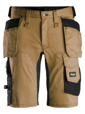 Brune AllroundWork, stretch shorts med hylsterlommer