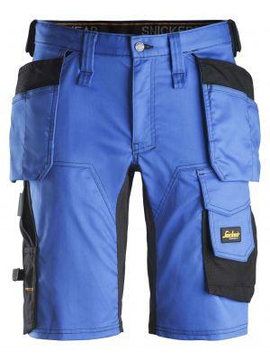 Blå farvede AllroundWork, stretch shorts med hylsterlommer