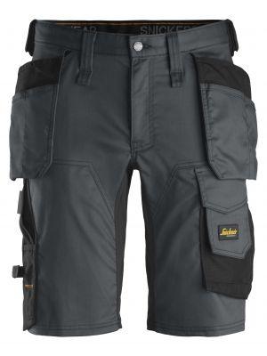 Steel grey AllroundWork, stretch shorts med hylsterlommer