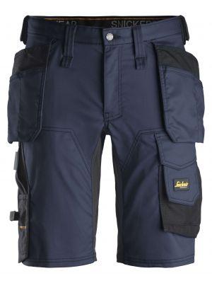 Navy AllroundWork, stretch shorts med hylsterlommer