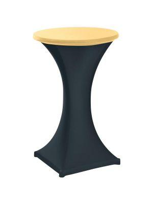 Stretch stående borddug - champagne, 2 størrelser