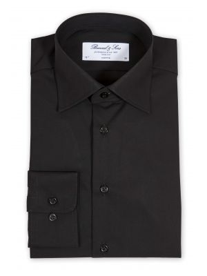 Bosweel skjorte sort SLIM FIT, poplin RESTSALG - Str 44