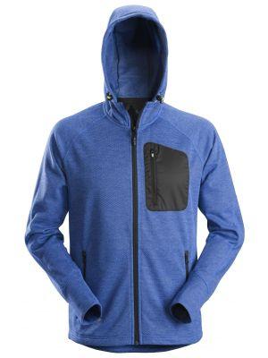 8041 True blue Snickers FlexiWork, fleece hættetrøje