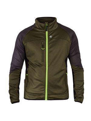 X-treme Midlayer-Cardigan - Moderne F-engel stretch trøje i Forest Green