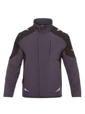 Koksgrå m. sort Galaxy softshell jakke fra F.Engel