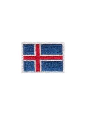 Islands flag som broderi