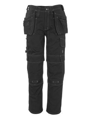 MASCOT Atlanta sorte arbejdsbukser m. knæ- og hængelommer