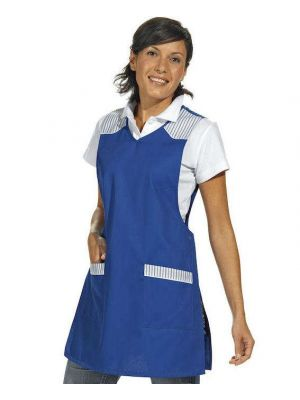 Blå / hvid sandwichforklæde
