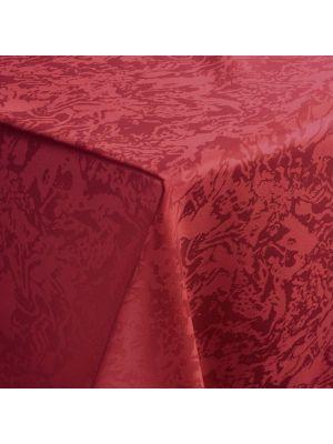 Bordeaux farvet dug i marmor design