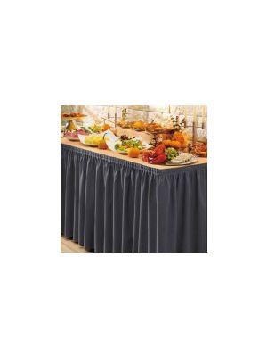 PORTO bordskørt i mørk koksgrå  - 490cm lang