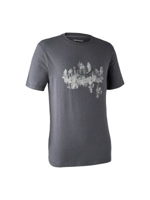 Ceder T-shirt Iron melange Deerhunter