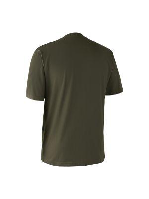 T-shirt med hjort Bark Green Deerhunter