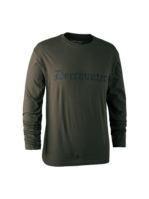 Logo T-Shirt med lange ærmer Bark Green Deerhunter