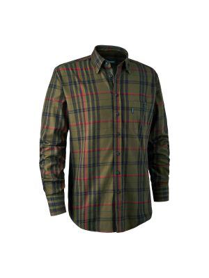 Larry Skjorte Green Check Deerhunter