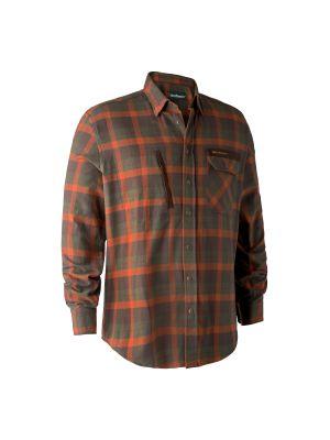 Ethan Skjorte Orange Check Deerhunter