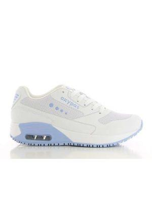 OXYPAS Sport 'Ela' Hvid / blå -skridhæmmende sko RESTSALG