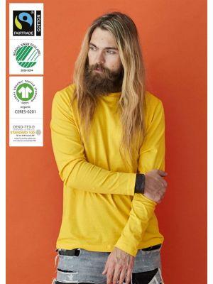 Langærmet Unisex t-shirt i Økologisk fairtrade bomuld - Valg i 9 farver