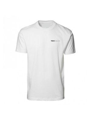 Hvid Tech college Aalborg t-shirt m. bryst tryk