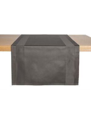 Sort/koksgrå stof bordløber - 2stk pk
