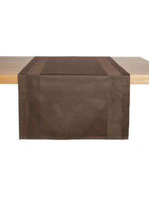 Brun stof bordløber - 2stk pk