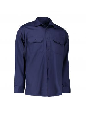 ID klassisk Arbejdsskjorte | bomuld  navy farve