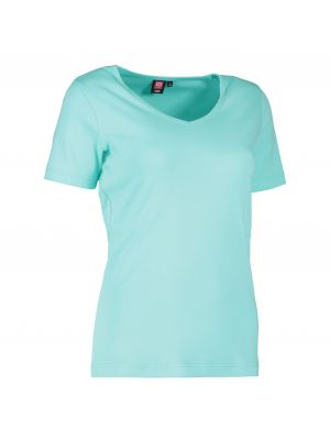 ID Interlock dame T-shirt med v-hals - Valg i diverse farver