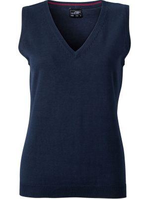 Dame pullover vest -Navy