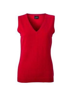 Dame pullover vest -Rød