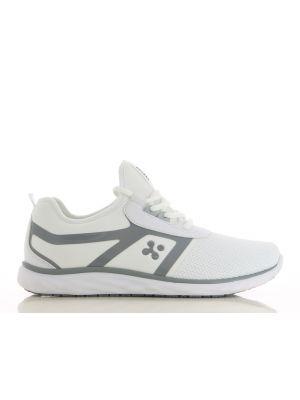Oxypas Luca sko i hvid og grå design - RESTLAGER