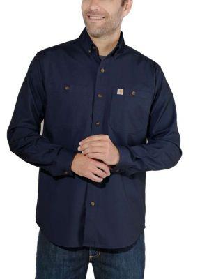 Carhartt Rigby Solid Skjorte Navy