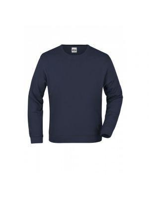 Navy farvet 100% bomulds sweatshirt