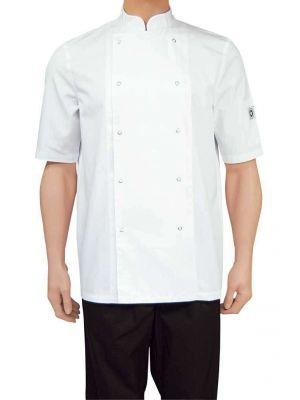Hilton Poco Hvid, kortærmet kokkejakke