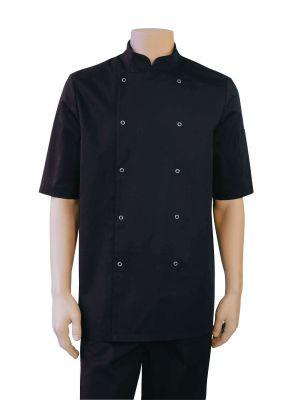 Hilton Poco sort, kortærmet kokkejakke