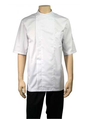 Bacio hvid kortærmet kokkejakke