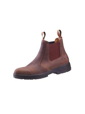 Brun læder chelsae støvle