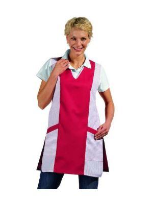V-hals rød / hvid sandwich forklæde