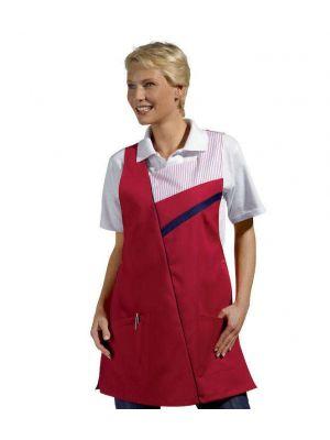 Rød og hvid sandwichforklæde - UDGÅR 1 str str II