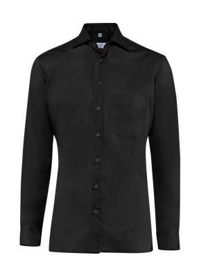 Premium herreskjorte alm. pasform skjorte, strygefri- sort - UDGÃ…R