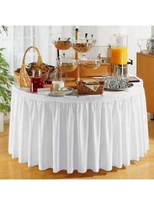 PORTO bordskørt i Creme - 580cm lang
