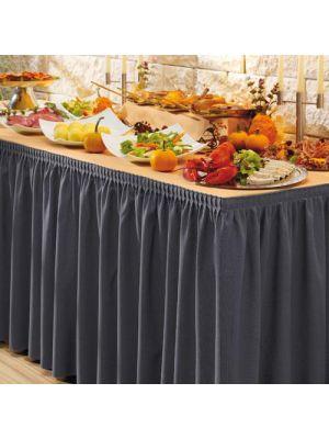 PORTO bordskørt i mørk koksgrå farve - 580cm lang