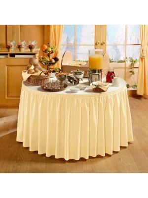 PORTO bordskørt i Creme - 410cm lang