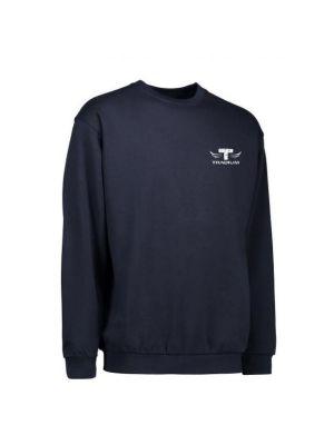 TEK & BYG navyblå sweatshirt - med Tradium logo+GF1tryk