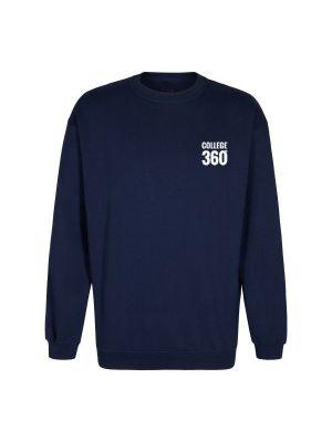TEK & BYG navyblå sweatshirt - med COLLEGE360 logo