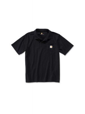 Carhart Sort Polo m/brystlomme