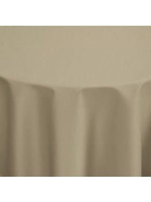 Taupe ambient stofdug i Hotel kvalitet. Ø170