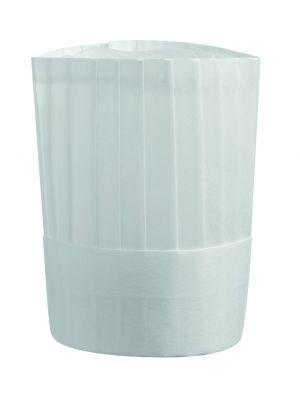 Høj hvid filt kokkehue