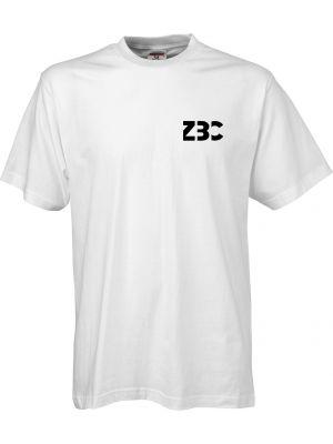 Hvid kvalitets t-shirt - med ZBC logo